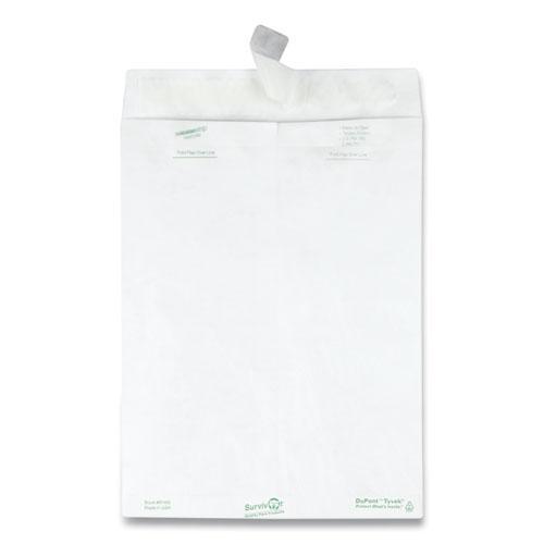 Catalog Mailers, DuPont Tyvek, #10 1/2, Square Flap, Redi-Strip Closure, 9 x 12, White, 100/Box. Picture 2