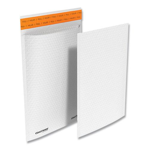 Self-Sealing Kraft Bubble Mailer, #1, Square Flap, Self-Adhesive Closure, 7.88 x 10.75, White, 100/Pack. Picture 1