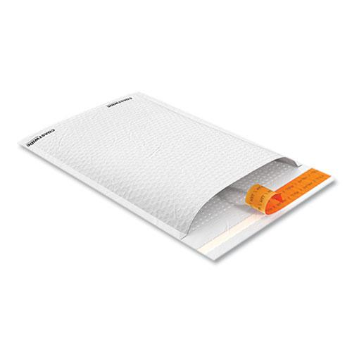 Self-Sealing Kraft Bubble Mailer, #1, Square Flap, Self-Adhesive Closure, 7.88 x 10.75, White, 100/Pack. Picture 3