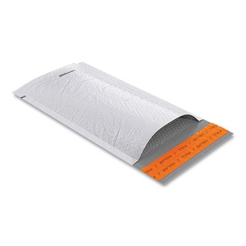 Self-Sealing Poly Bubble Mailer, #00, Square Flap, Self-Adhesive Closure, 5.75 x 9, White, 250/Pack. Picture 2
