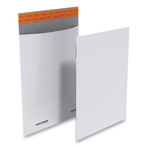 Self-Sealing Poly Mailer, Square Flap, Self-Adhesive Closure, 9 x 12, White, 500/Carton. Picture 1