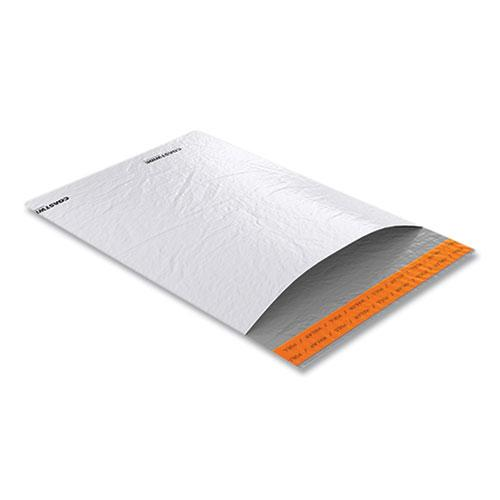 Self-Sealing Poly Mailer, Square Flap, Self-Adhesive Closure, 9 x 12, White, 500/Carton. Picture 2