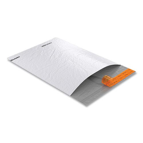 Self-Sealing Poly Mailer, Square Flap, Self-Adhesive Closure, 9 x 12, White, 500/Carton. Picture 3