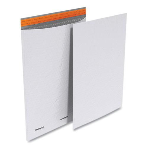 Self-Sealing Poly Bubble Mailer, #7, Square Flap, Self-Adhesive Closure, 15 x 19, White, 50/Pack. Picture 1