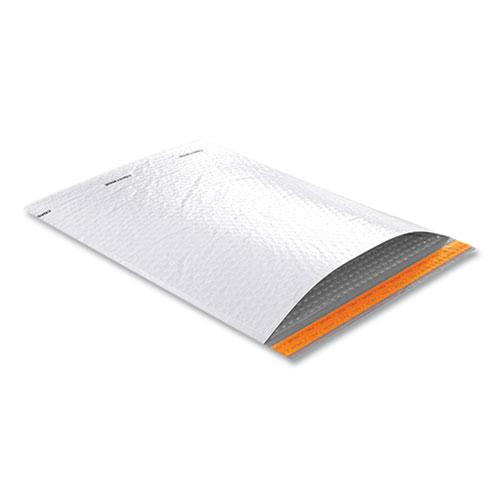 Self-Sealing Poly Bubble Mailer, #7, Square Flap, Self-Adhesive Closure, 15 x 19, White, 50/Pack. Picture 2