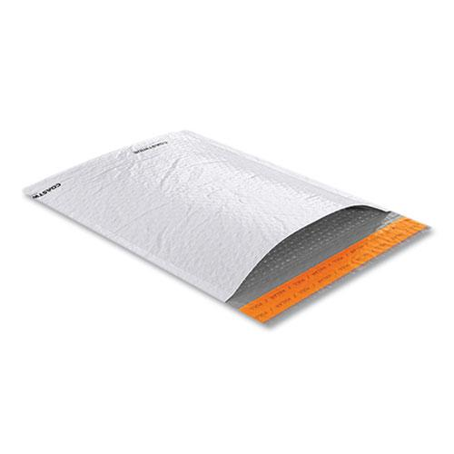 Self-Sealing Poly Bubble Mailer, #2, Square Flap, Self-Adhesive Closure, 9.25 x 11, White, 100/Pack. Picture 1