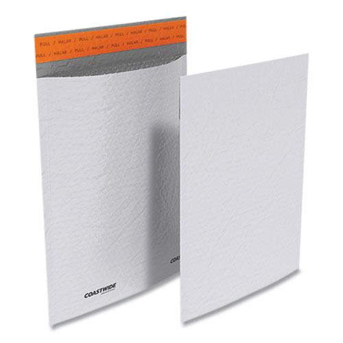 Self-Sealing Poly Bubble Mailer, #2, Square Flap, Self-Adhesive Closure, 9.25 x 11, White, 100/Pack. Picture 2