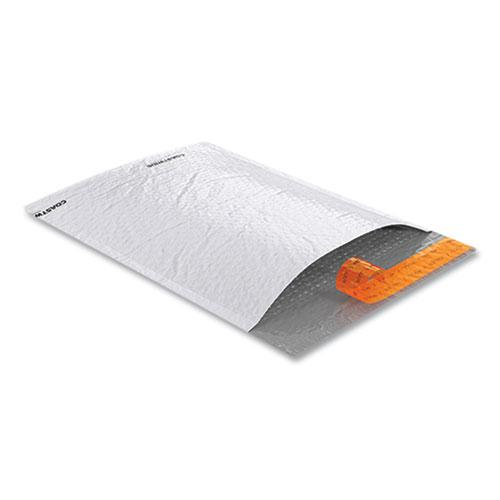 Self-Sealing Poly Bubble Mailer, #2, Square Flap, Self-Adhesive Closure, 9.25 x 11, White, 100/Pack. Picture 3