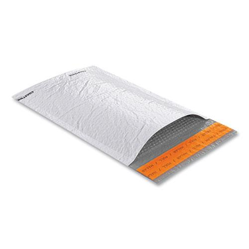 Self-Sealing Poly Bubble Mailer, #0, Square Flap, Self-Adhesive Closure, 6.75 x 9, White, 250/Pack. Picture 2