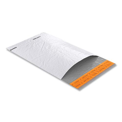 Self-Sealing Poly Mailer, Square Flap, Self-Adhesive Closure, 6 x 9, White, 100/Pack. Picture 2