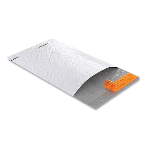 Self-Sealing Poly Mailer, Square Flap, Self-Adhesive Closure, 6 x 9, White, 100/Pack. Picture 3
