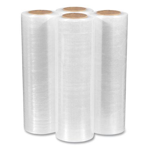 "Extended Core Cast Stretch Wrap, 16"" x 1,476 ft, 47-Gauge, Clear, 4/Carton. Picture 3"