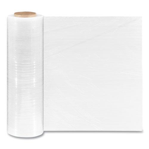 "Extended Core Cast Stretch Wrap, 18"" x 1,500 ft, 90-Gauge, Clear, 4/Carton. Picture 1"