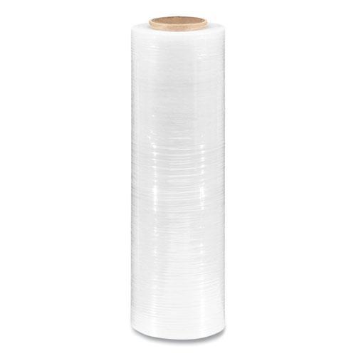 "Extended Core Cast Stretch Wrap, 18"" x 1,500 ft, 90-Gauge, Clear, 4/Carton. Picture 2"