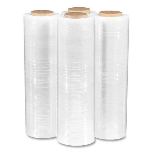 "Extended Core Cast Stretch Wrap, 18"" x 1,500 ft, 90-Gauge, Clear, 4/Carton. Picture 3"