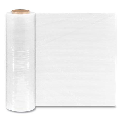 "Extended Core Cast Stretch Wrap, 18"" x 1,500 ft, 80-Gauge, Clear, 4/Carton. Picture 1"
