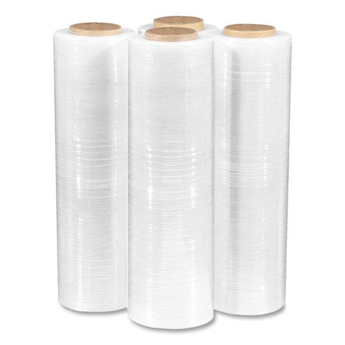 "Extended Core Cast Stretch Wrap, 18"" x 1,500 ft, 80-Gauge, Clear, 4/Carton. Picture 3"