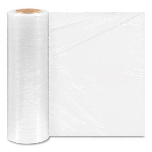 "Extended Core Cast Stretch Wrap, 15"" x 1,500 ft, 80-Gauge, Clear, 4/Carton. Picture 1"
