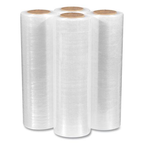 "Extended Core Cast Stretch Wrap, 15"" x 1,500 ft, 80-Gauge, Clear, 4/Carton. Picture 3"