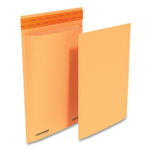 Self-Sealing Kraft Bubble Mailer, #1, Square Flap, Self-Adhesive Closure, 7.88 x 10.75, Golden Brown Kraft, 100/Pack. Picture 1