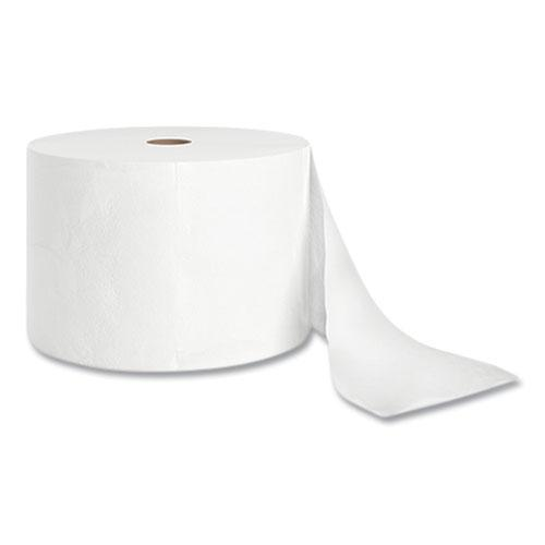 J-Series Two-Ply Small Core Bath Tissue, Septic Safe, White, 4 x 4, 1,500 Sheets/Roll, 18 Rolls/Carton. Picture 1
