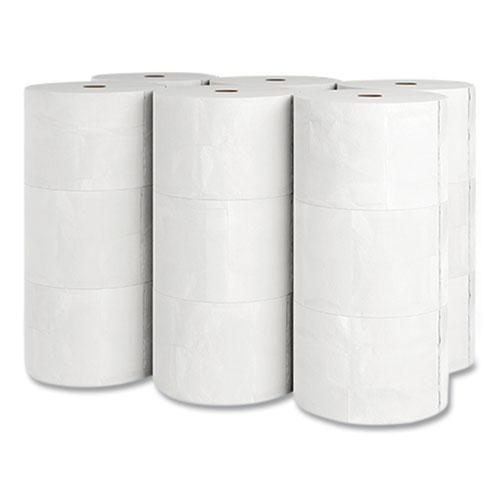 J-Series Two-Ply Small Core Bath Tissue, Septic Safe, White, 4 x 4, 1,500 Sheets/Roll, 18 Rolls/Carton. Picture 2