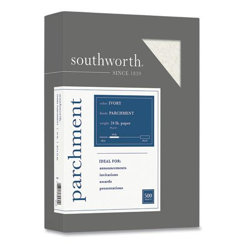 Parchment Specialty Paper, 24 lb, 8.5 x 11, Ivory, 500/Ream. Picture 1