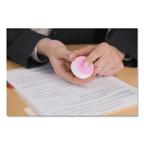 Sortkwik Fingertip Moisteners, 3/8 oz, Pink, 3/Pack. Picture 4