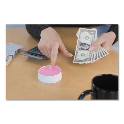 Sortkwik Fingertip Moisteners, 3/8 oz, Pink, 3/Pack. Picture 3