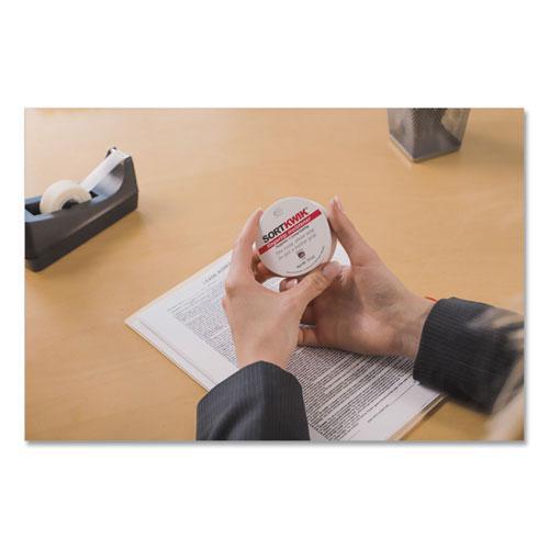 Sortkwik Fingertip Moisteners, 3/8 oz, Pink, 3/Pack. Picture 2