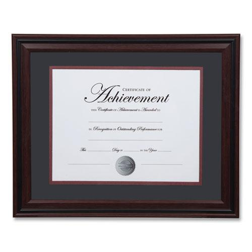 Desk/Wall Photo Frame, Plastic, 11 x 14, 8 1/2 x 11, Rosewood/Black. Picture 2