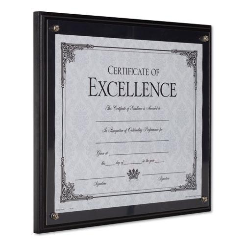 Award Plaque, Wood/Acrylic Frame, Up to 8.5 x 11, Black. Picture 6