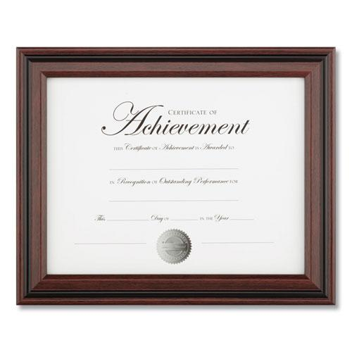 Desk/Wall Photo Frame, Plastic, 8 1/2 x 11, Rosewood/Black. Picture 1