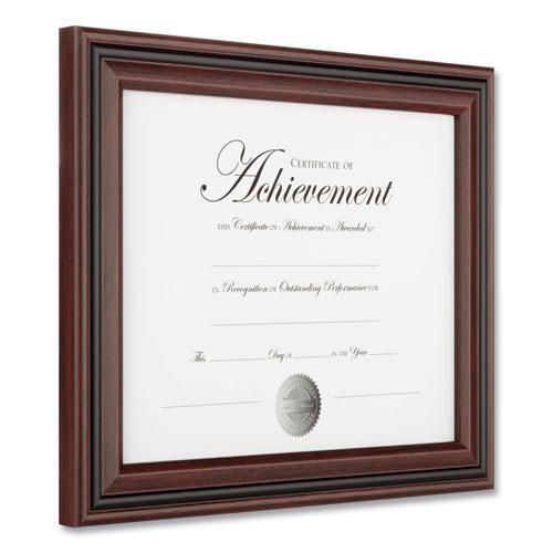 Desk/Wall Photo Frame, Plastic, 8 1/2 x 11, Rosewood/Black. Picture 2