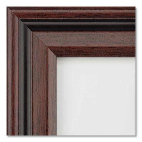 Desk/Wall Photo Frame, Plastic, 8 1/2 x 11, Rosewood/Black. Picture 3