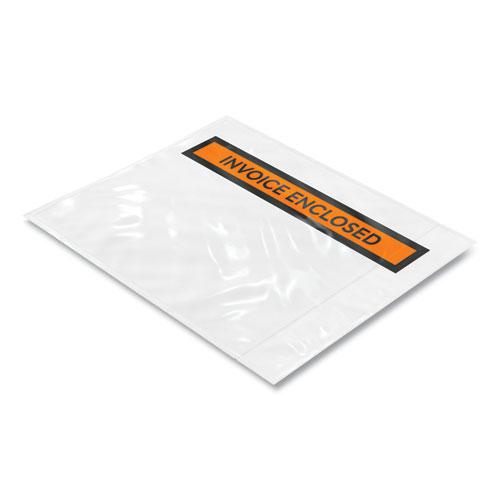 Packing List Envelope, Top-Print Front, 5.5 x 4.5, Clear/Orange, 1,000/Carton. Picture 2