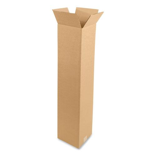 Fixed-Depth Shipping Boxes, 200 lb Mullen Rated, Regular Slotted Container (RSC), 10 x 10 x 48, Brown Kraft, 20/Bundle. Picture 1