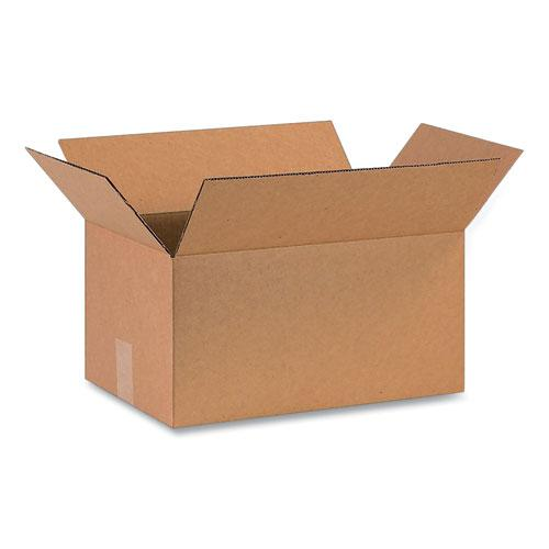Fixed-Depth Shipping Boxes, 200 lb Mullen Rated, Regular Slotted Container (RSC), 16 x 10 x 8, Brown Kraft, 25/Bundle. Picture 1