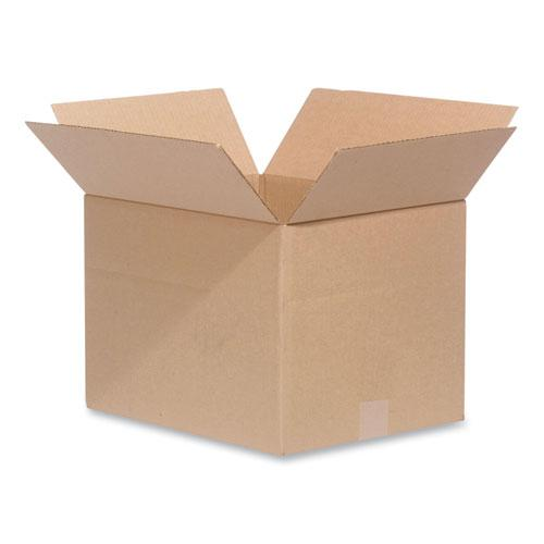 Fixed-Depth Shipping Boxes, 200 lb Mullen Rated, Regular Slotted Container (RSC), 12 x 12 x 6, Brown Kraft, 25/Bundle. Picture 1