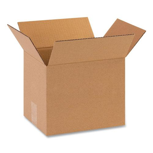 Fixed-Depth Shipping Boxes, 200 lb Mullen Rated, Regular Slotted Container (RSC), 10 x 8 x 8, Brown Kraft, 25/Bundle. Picture 1