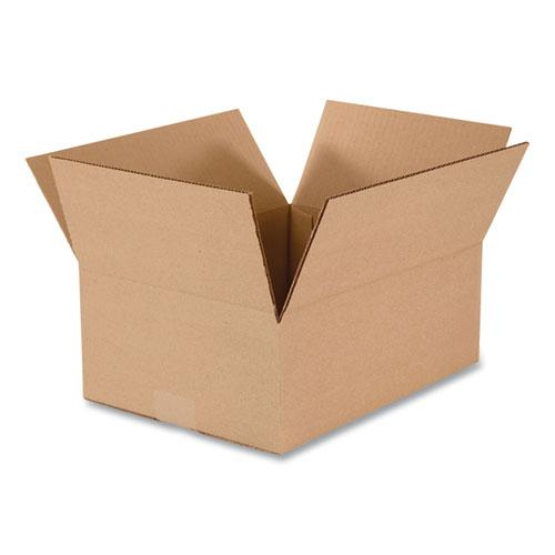 Fixed-Depth Shipping Boxes, 200 lb Mullen Rated, Regular Slotted Container (RSC), 12 x 10 x 4, Brown Kraft, 25/Bundle. Picture 1