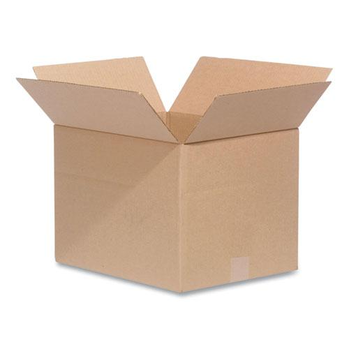 Fixed-Depth Shipping Boxes, 200 lb Mullen Rated, Regular Slotted Container (RSC), 14 x 14 x 10, Brown Kraft, 25/Bundle. Picture 1