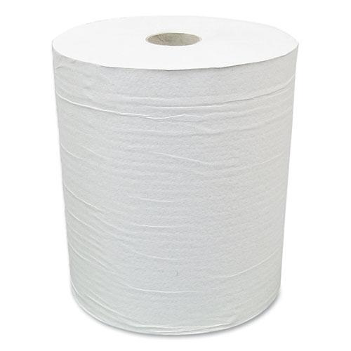 """Hardwound Paper Towel Roll, Eco Green Paper, 1-Ply, 7.88"""" x 800 ft, White, 6/Carton. Picture 1"""