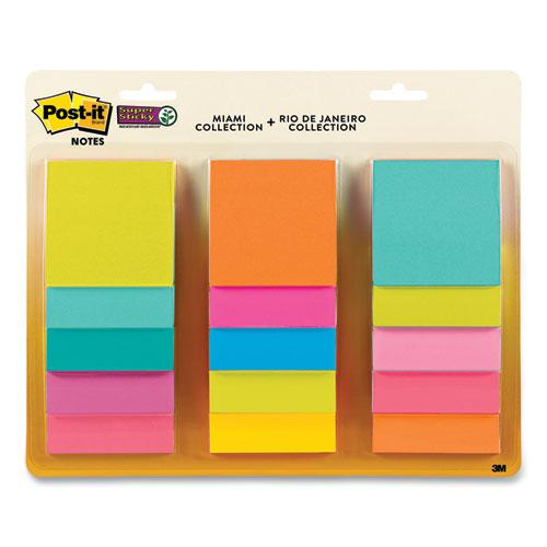 Pad Collection Assortment Pack, Miami Collection and Rio de Janeiro Collection, 3 x 3, 45 Sheets/Pad, 15 Pads/Pack. Picture 2