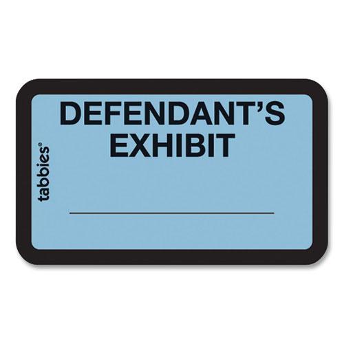 Legal Exhibit Labels, Defendant's Exhibit, 1.63 x 1, Blue, 9/Sheet, 28 Sheets/Pack, 252 Labels/Pack. Picture 1