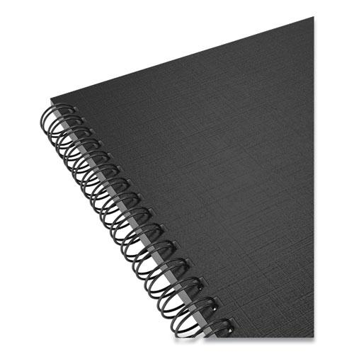 Wirebound Soft-Cover Project-Planning Notebook, Preprinted Planning Template, Black Cover, 9.5 x 6.5, 80 Sheets. Picture 2