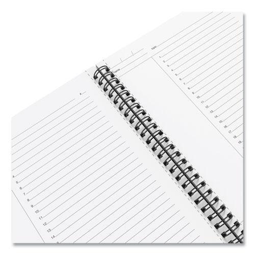 Wirebound Soft-Cover Project-Planning Notebook, Preprinted Planning Template, Black Cover, 9.5 x 6.5, 80 Sheets. Picture 3
