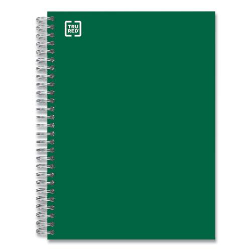 Three-Subject Twin Wire Notebook, Medium/College Rule, Green Cover, 9.5 x 5.88, 138 Sheets. Picture 1