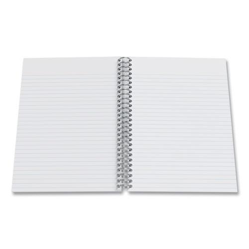 Three-Subject Twin Wire Notebook, Medium/College Rule, Green Cover, 9.5 x 5.88, 138 Sheets. Picture 2