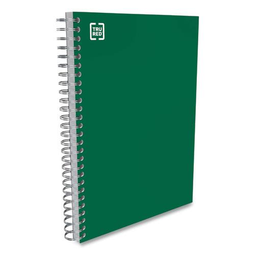 Three-Subject Twin Wire Notebook, Medium/College Rule, Green Cover, 9.5 x 5.88, 138 Sheets. Picture 3